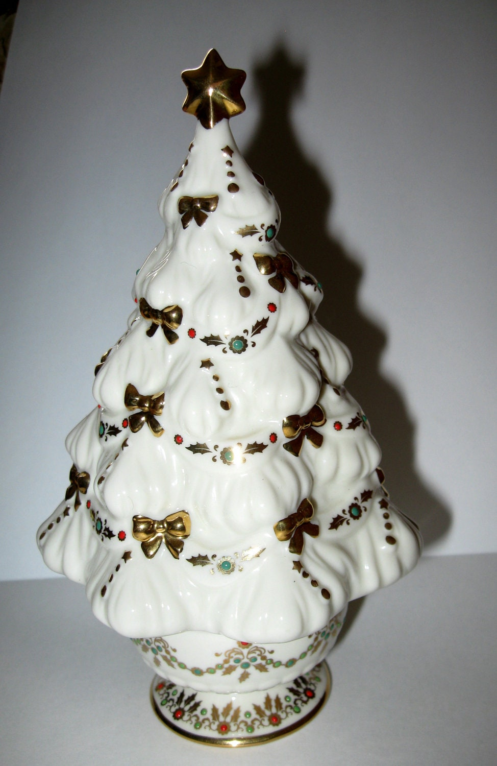 Lenox Music Box Christmas Tree Fine China By