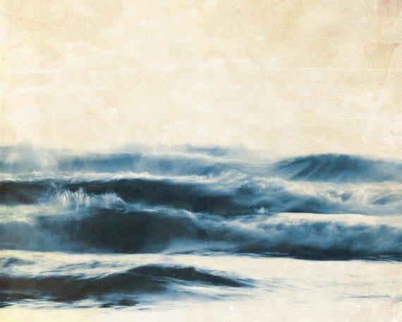 Ocean Blue, Texture, Summer, Waves, Sea Dreams, 8 x 10 Photography