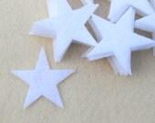 """50 Piece 2"""" Die Cut Felt Stars, White"""