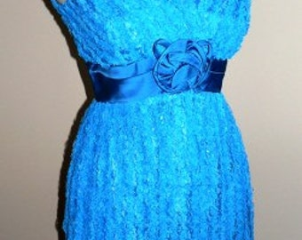 vintage dress ... TURQUOISE LACE Party PRINCESS Vintage at its Best  ..