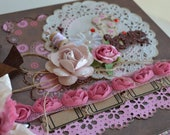 Love Mini Album OOAK Scrapbook Chipboard 6x6