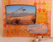 White Sands Photo Mixed Media Painting on 8 x 10 Canvas Board, Sunset in Desert, Original Artwork, Wall Art, Home Decor