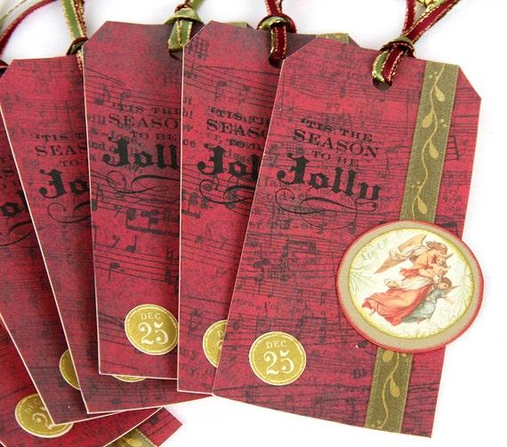 Angel Christmas Gift Tags Set of 8