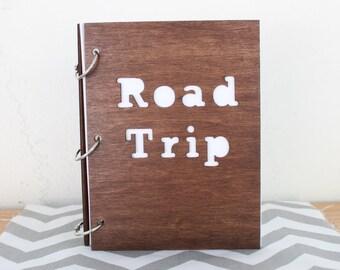 6X8 Wood road trip travel journal/ mini album