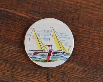 Handmade Magnet - Sailboats