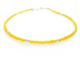 Beach Bracelets, Yellow Simple Bracelet, Friendship Bracelet, Fashion Jewelry UK