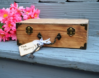New: Vintage Style Suitcase Guest Book Alternative/Guest Book Keepsake Box/Love Notes Box