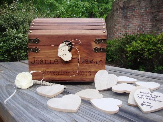Wedding Guest Book Keepsake Box with Hearts- Medium Size