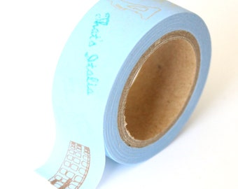 SALE Washi Tape Italia Print - 20mmx10m - 1 Roll - Ships IMMEDIATELY from California - TP220