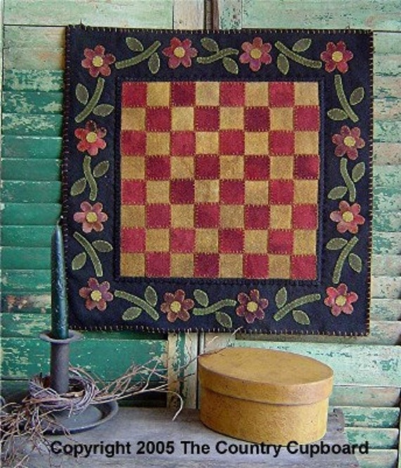 Rug Hooking Designs Primitive: Items Similar To The Country Cupboard Primitive Folk Art