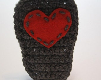 Add a little love.  Valentines day.  Hand stitched hearts on the bottom of your booties.