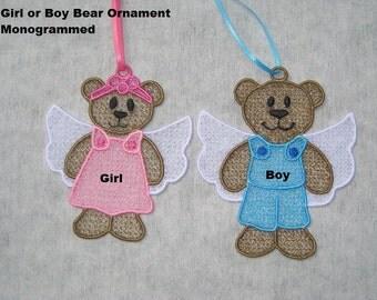 Angel Bears Ornaments