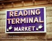 "Philadelphia Art Print - Fine Art Photo - ""Reading Terminal Market"" Photograph Antique Finish"