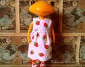 Strawberries dress for Wonder Frog or Lati Yellow