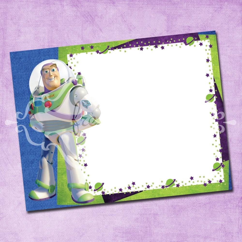Buzz Lightyear Thank You Card – Buzz Lightyear Birthday Card