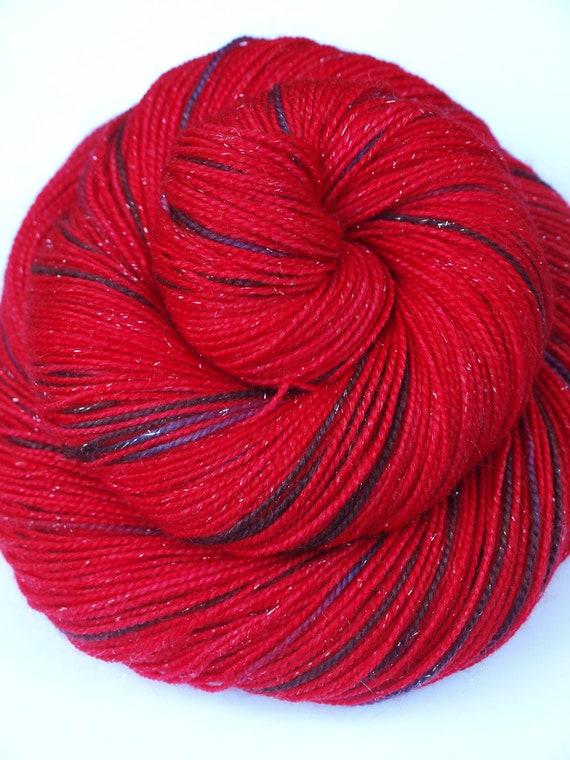 The Poison Apple on Sparkle,Phat Fiber, Hand Dyed, Fingering/Sock Yarn