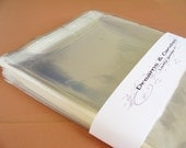 50- 5 3/4 x 8 3/4 Resealable Clear Cello Bags