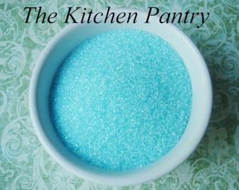 Sanding Sugar -  Sprinkles -  Blue Sprinkles for  Cupcakes, Cookies  or  Cake Pops  (lg 4 oz )
