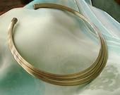 Lovely Modern Look Multi Wire Choker Necklace