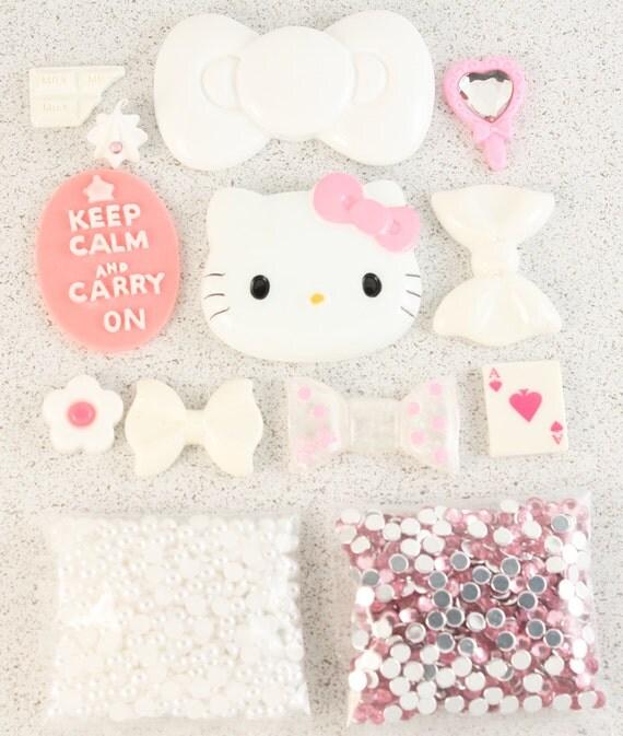 "SALE - Petit Deco Kawaii ""Classic"" Pink / White Kit"