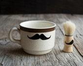 Shaving Set - Mustache Shaving Mug and Shaving Brush