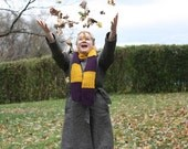 SALE* Plum and Gold Scarf- made from Wool and Alpaca