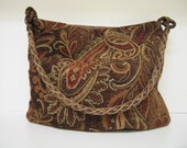 Large Autumn Paisley tapestry Hobo bag