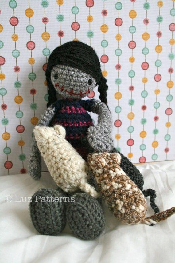 Amigurumi Patterns K And J Dolls Blog : CROCHET PATTERN Crochet HALLOWEEN doll pattern by LuzPatterns