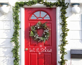 """Let it Snow Vinyl Wall/Door Decal Merry Christmas....Your choice of color"""""""