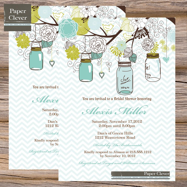 Shabby Chic Wedding Invitations with beautiful invitation design