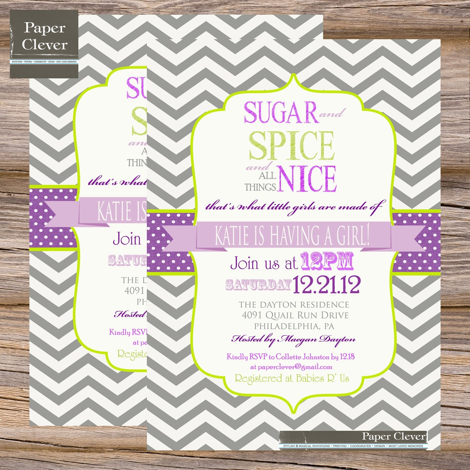 Sugar And Spice Baby Shower Invitations is an amazing ideas you had to choose for invitation design