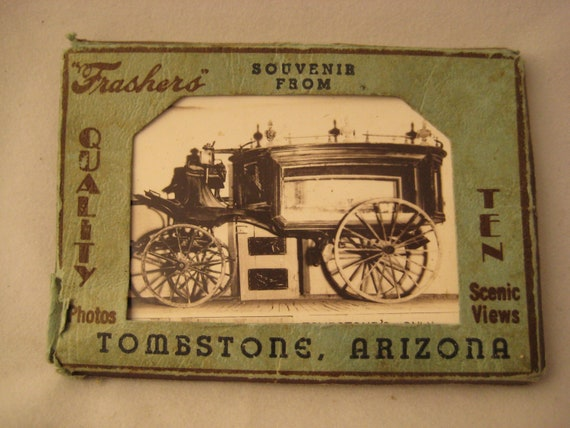 10 Vintage Mini Postcard Photos from Tombstone Arizona by Frasher's - 1940s - Route 66