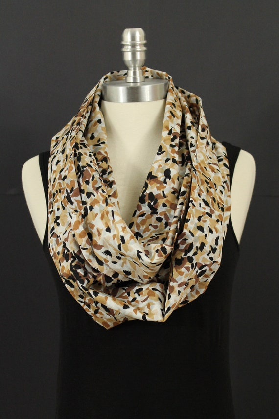 Fallen leaves... Infinity scarf...cotton