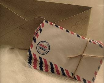 20 Vintage reproduction  air mail envelopes, vintage par avion envelopes, airmail envelopes