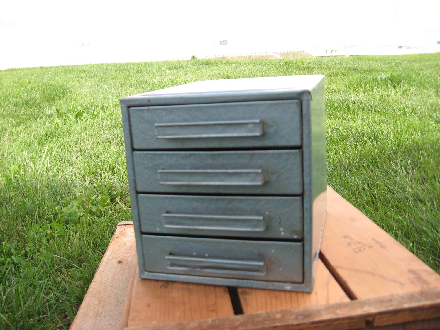 Small Industrial Metal Cabinet With Drawers Industrial Decor