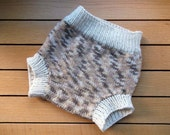 Handknit 100% Wool Soaker/Diaper Cover - Size Large- Neutral colors