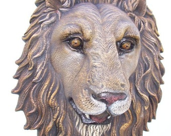 Lion Head life-size wall Realistic: width 16 X depth 8 X 21 inches