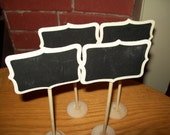 Mini  Chalkboard Stands Table Numbers, Wedding , Buffet, Food, Party decoration Shabby Chic Set of 8 (Chalk Included)