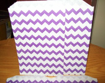 Chevron Purple Middy Bitty Treat, Favor, Party, Bags Set of 20