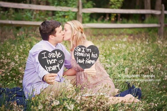Wedding 1 Large Heart Chalkboard Sign Wedding  Photo Props Table Sign New Name Save Date