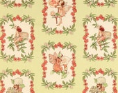 Michael Miller Fabric - Morning Flower Fairies Collection - Sweet Fairies - Green Apple