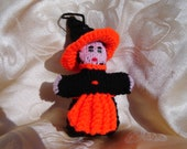 Ms. Hazel A. Witch Hand-Knitted Halloween Ornament