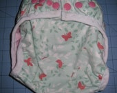Nappy Diaper Cover Girl Pink Butterfly