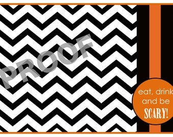 50 paper Halloween placemats