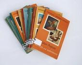 1950's National Audubon Society Books Lot of 15, Nature Books, Wildlife Books, Mid Century Nature Program Books, Library Card's