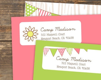 Camp Theme Address Label Printable