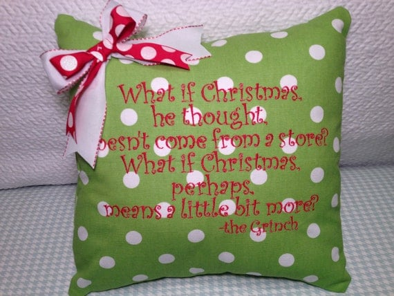 Christmas Pillow Cover Green Polka Dot What Is By MamaBern