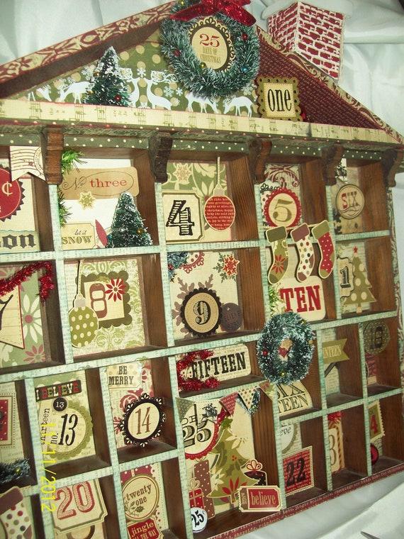 25 days of christmas advent calendar by thecraftdonkey on etsy