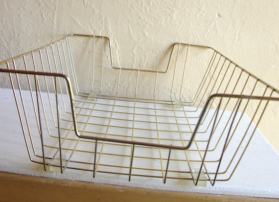 Set of 3 Large In/Out Metal Baskets Wire Boxes Desk Organizer