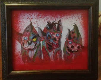 The Lion King Zombie Hyenas Detailed Digital Framed Print